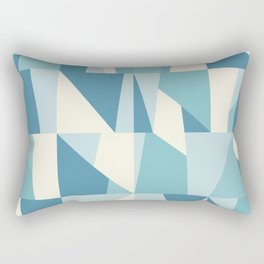 Geometric Blue Pattern Rectangular Pillow