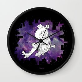Skater Gal Wall Clock