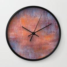 Orange Color Fog Wall Clock