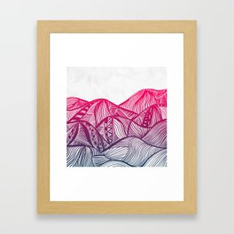 Lines in the mountains 05 Framed Art Print