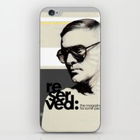 ben giles iPhone & iPod Skins featuring Reserved Magazine Giles Deacon by Mitja Bokun