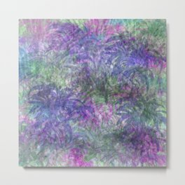 Color Leaf Explosion Abstract Metal Print