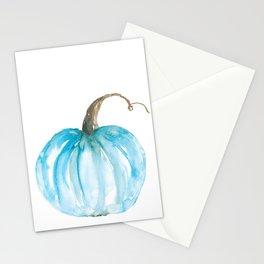 Blue Fall Pumpkin Stationery Cards