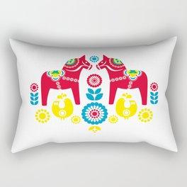 Swedish Dalahäst Rectangular Pillow