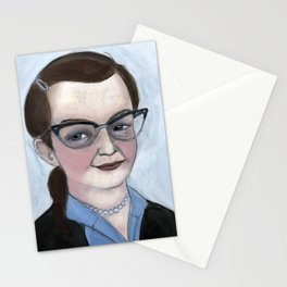 """The Haunting of Shirley"", Shirley Jackson Literary Portrait Stationery Cards"