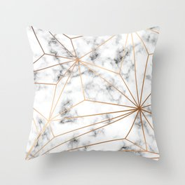 Marble & Gold 046 Throw Pillow
