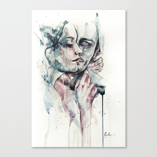 forever yours freckles Canvas Print