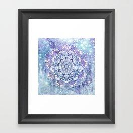 FREE YOUR MIND in Blue Framed Art Print