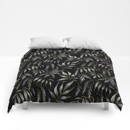 Brooklyn Forest - Black Comforters