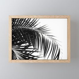 Palm Leaves Black & White Vibes #3 #tropical #decor #art #society6 Framed Mini Art Print