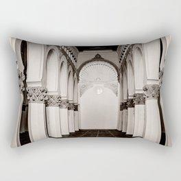The Historic Arches in the Synagogue of Santa María la Blanca, Toledo Spain (4) Rectangular Pillow
