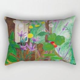 Fireflies in the Garden Rectangular Pillow