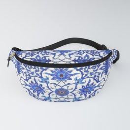 Art Nouveau Chinese Tile, Cobalt Blue & White Fanny Pack