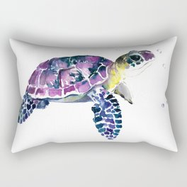 Sea Turtle, purple baby turtle illustration design Rectangular Pillow
