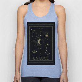 The Moon or La Lune Gold Edition Unisex Tank Top