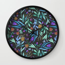 Watercolor floral bouquet pattern Wall Clock