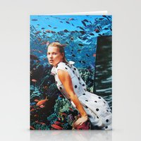 kate moss Stationery Cards featuring Kate Moss by John Turck