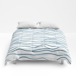 Seapattern. Hand drawn waves Comforters