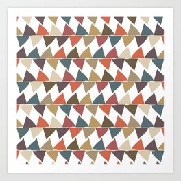Crude Triangles Art Print