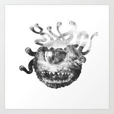Beholder (Black & White) Art Print