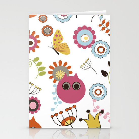 Owl in Pandora Stationery Cards