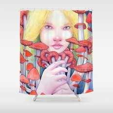 Keeper of the Scarlet Garden Shower Curtain