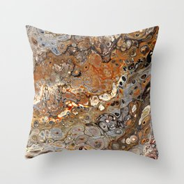 Earth Tones Lava Flow Throw Pillow