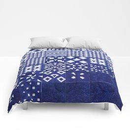 tile blue background Comforters