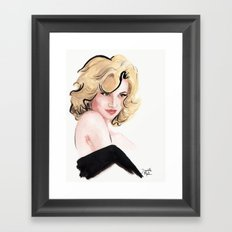 Pin Her Up Framed Art Print