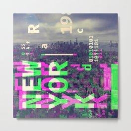 GLITCH CITY #51: New York Metal Print