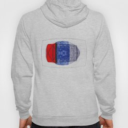 Blue and Red (with elipse and square) Hoody