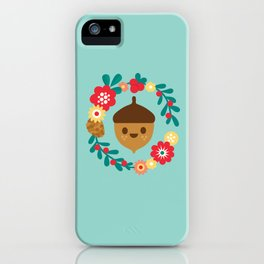 Acorn and Flowers iPhone Case