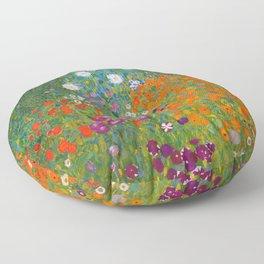 Flower Garden Bauerngarten Klimt Garden Floral Oil Painting Floor Pillow