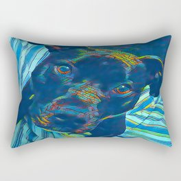 Pittie series from our POP YOUR POOCH line Rectangular Pillow