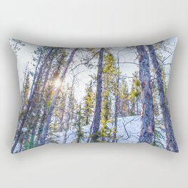 Sunset in the forest Rectangular Pillow