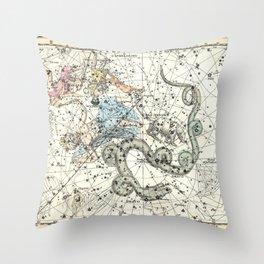 Celestial Atlas Plate 2 Alexander Jamieson, Cepheus, Dragon Throw Pillow