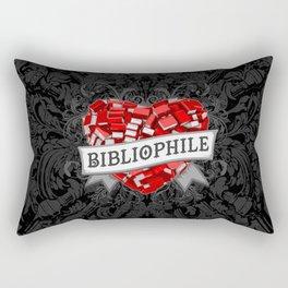 Bibliophile Heart Rectangular Pillow