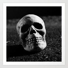 Nocturnal skull Art Print