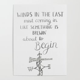 Winds in the East Poster