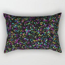 Glitch Grid Rectangular Pillow