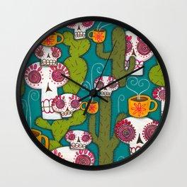 Skulls, Cacti and Atomic Coffee Wall Clock