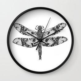 Filigree Skimmer black & white Wall Clock