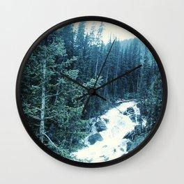 Mountan Stream Wall Clock