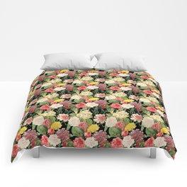 Vintage Floral Pattern   No. 1A Comforters