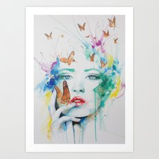 Jay Freestyle - Girl painting Art Print