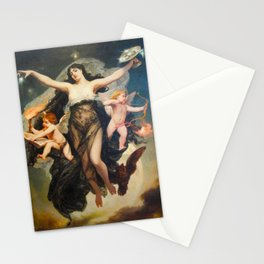 Pedro Americo The Night Escorted By The Geniuses of Study And Love 1883 Restored Stationery Cards