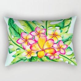 Bright Tropical Flower Bouquet Rectangular Pillow