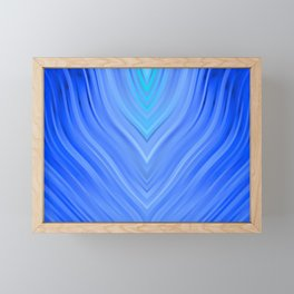 stripes wave pattern 3 c80 Framed Mini Art Print