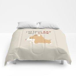 Not fat but cute corgi Comforters