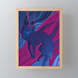 The Black Fox Framed Mini Art Print
